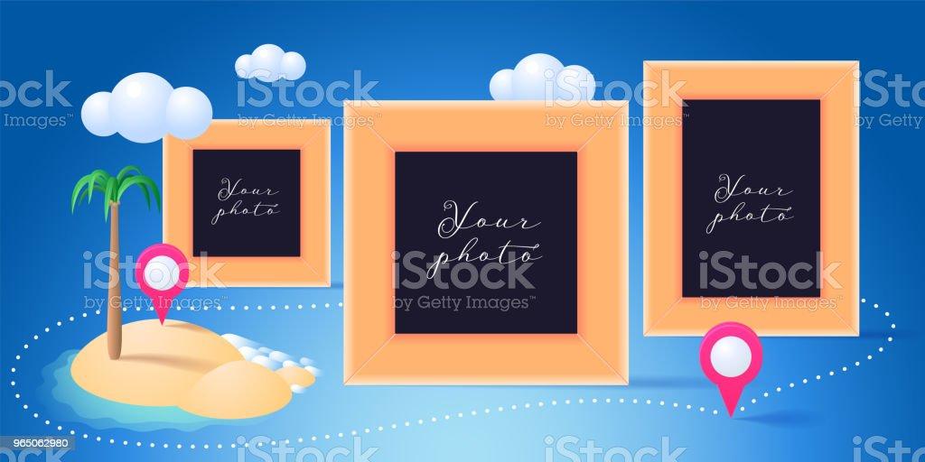 Collage of photo frames vector illustration collage of photo frames vector illustration - stockowe grafiki wektorowe i więcej obrazów album na zdjęcia royalty-free