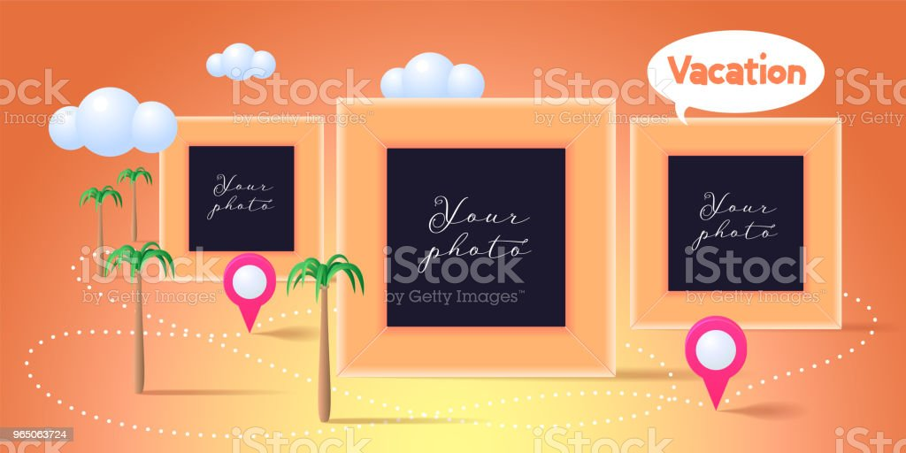 Collage of photo frames vector illustration royalty-free collage of photo frames vector illustration stock vector art & more images of art