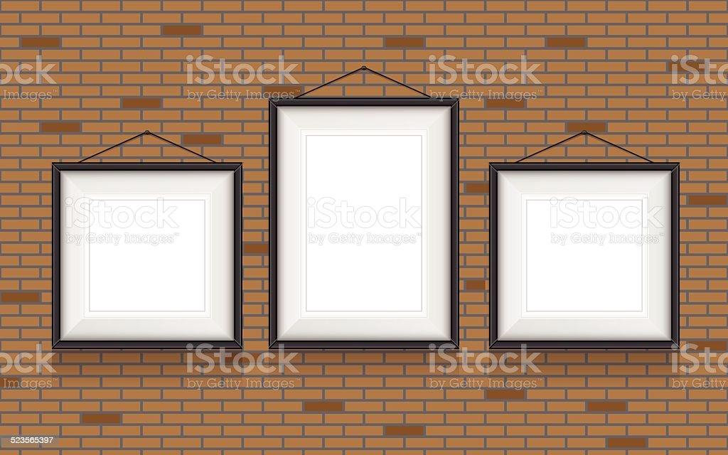 Collage Von Bilderrahmen Auf Der Wand Vektorset Stock Vektor Art und ...