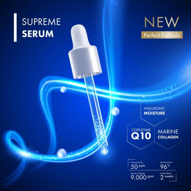 collagen serum dropper with coenzyme q10 essence - 代替医療点のイラスト素材/クリップアート素材/マンガ素材/アイコン素材