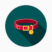 Collar Flat Design Pet Care Icon