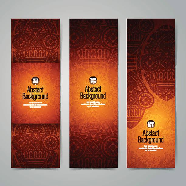 Collection banner design, African art background. vector art illustration