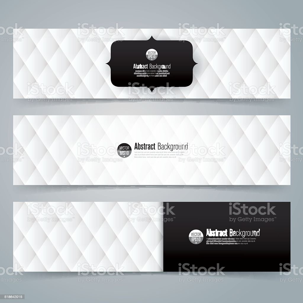 Collection banner design, Black and white upholstery background. vector art illustration