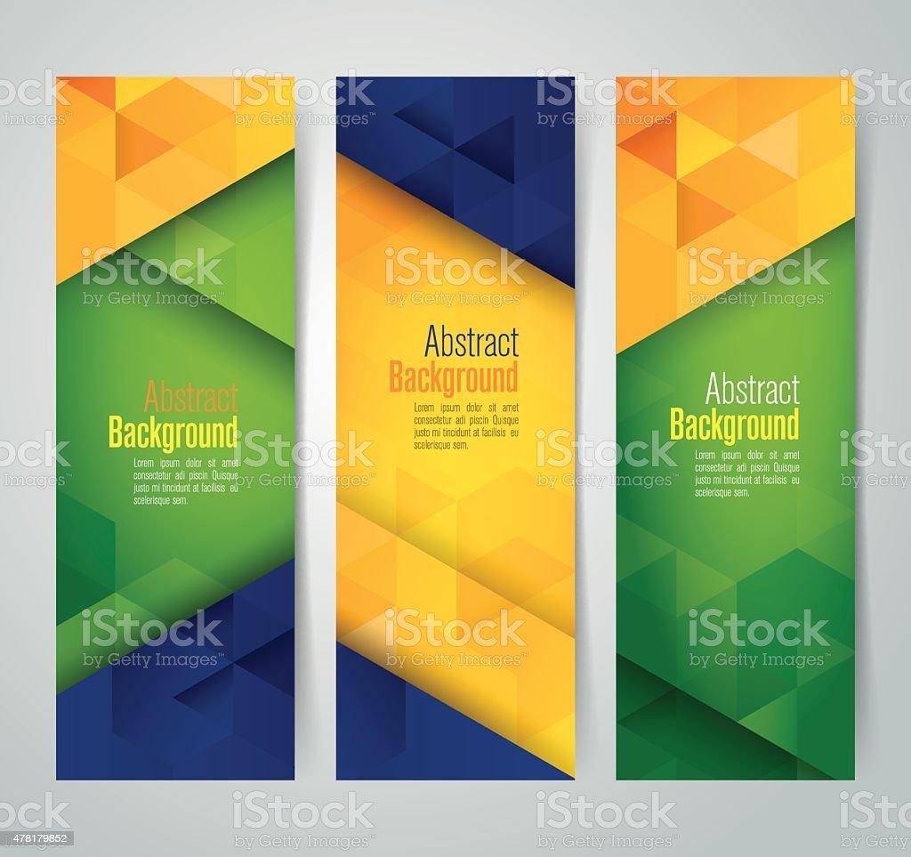 Coleção banner projeto, bandeira do Brasil cor de fundo, ilustração vetorial. - ilustração de arte em vetor