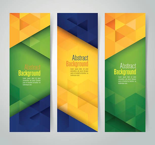bildbanksillustrationer, clip art samt tecknat material och ikoner med collection banner design, brazil flag color background, vector illustration. - brasilien flagga