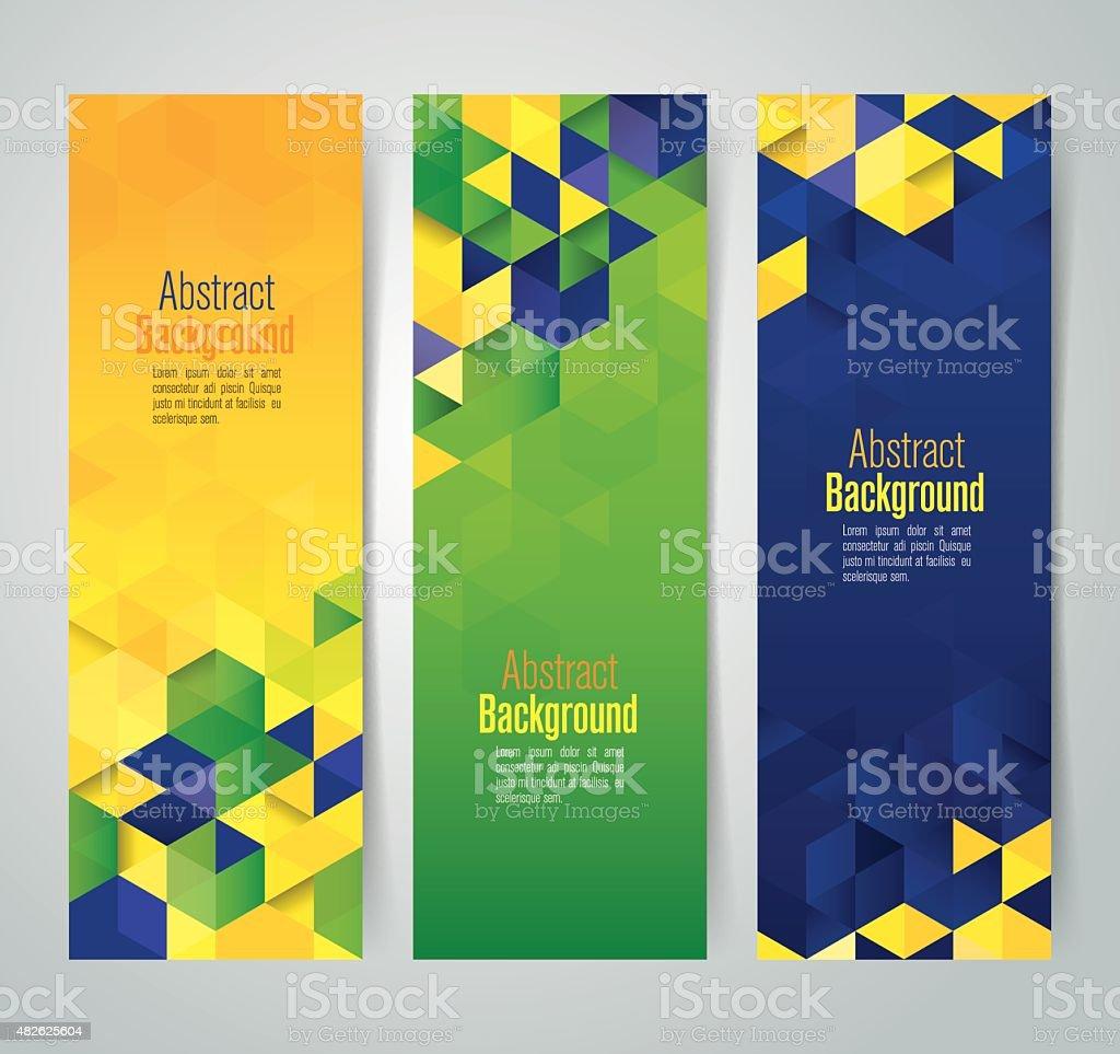 Collection banner design, Brazil flag color background, vector illustration. vector art illustration