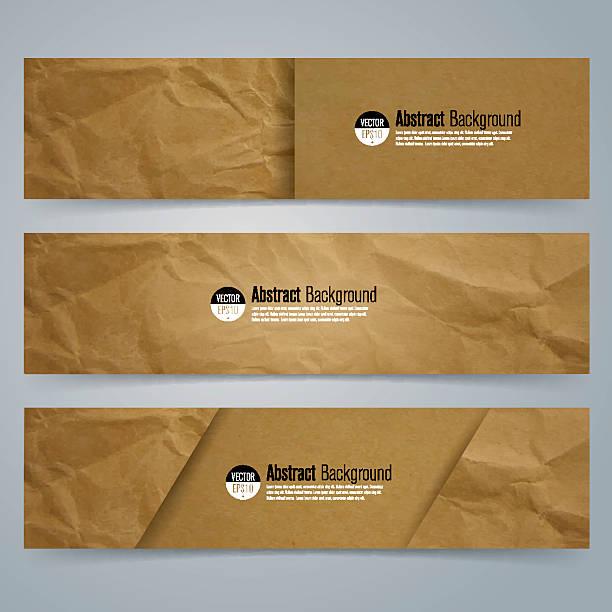 Collection banner design, Brown paper background. vector art illustration