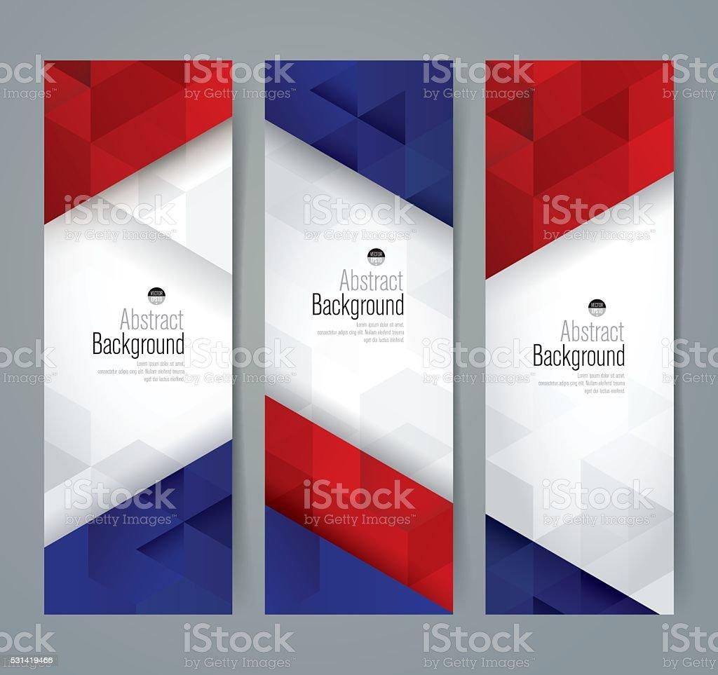 collection banner design france flag colors background stock