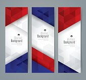 Collection banner design, France flag colors background.