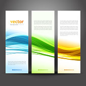 Collection banners modern wave design