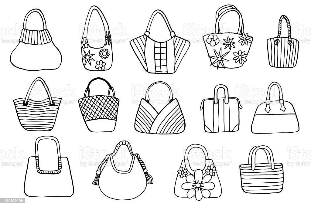 ba7335f164 Collection design women s handbags royalty-free collection design womens  handbags stock vector art  amp