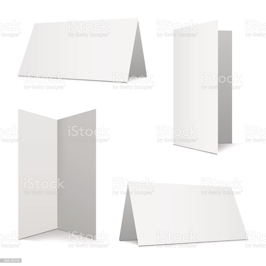Collection folded cards vector art illustration