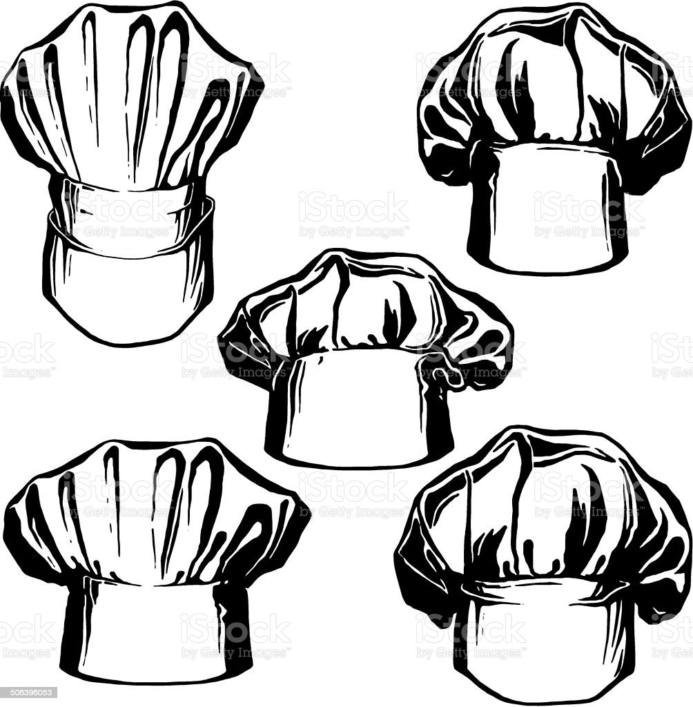 2610b2c0 collection hats of chef royalty-free collection hats of chef stock vector  art &