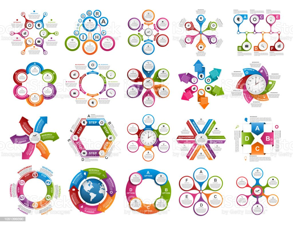 Collection infographics. Design elements. Infographics for business presentations or information banner. vector art illustration
