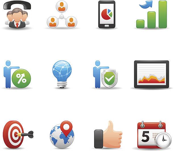 ilustrações de stock, clip art, desenhos animados e ícones de ícone de negócio conjunto elegante série / - phone 12 hand white background