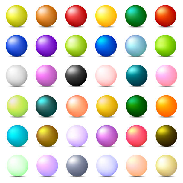 Collection of 36 Colorful Realistic Spheres isolated on white background. Glossy Shiny Balls. 3d Colored Balls and Spheres. Vector Illustration for Your Design, Web. Collection of 36 Colorful Realistic Spheres isolated on white background. Glossy Shiny Balls. 3d Colored Balls and Spheres. Vector Illustration for Your Design, Web. sphere stock illustrations