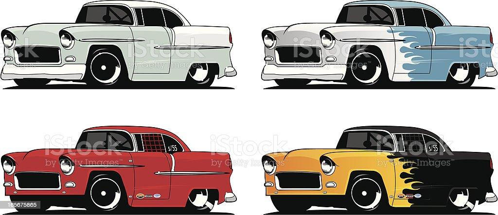 Collection of '55 Chevys - Royaltyfri 1955 vektorgrafik