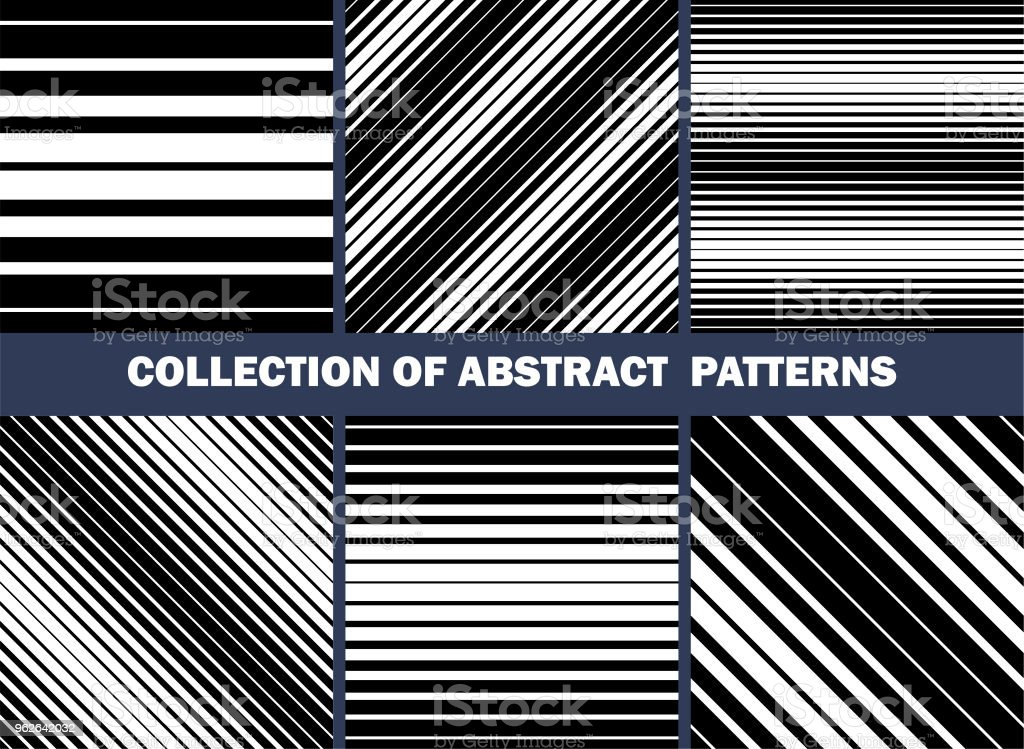 collection of abstract patterns set of seamless vector straight lines backgrounds textures royalty free
