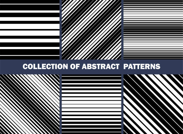 collection of abstract patterns set of seamless vector straight lines backgrounds textures vector art illustration