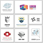 Collection Of Abstract Signs For Internet Security Concepts