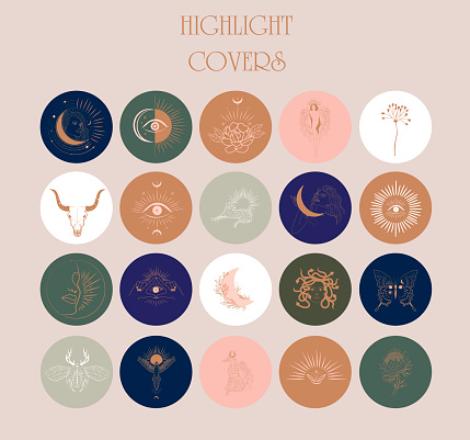 Collection of Abstract various vector highlight covers