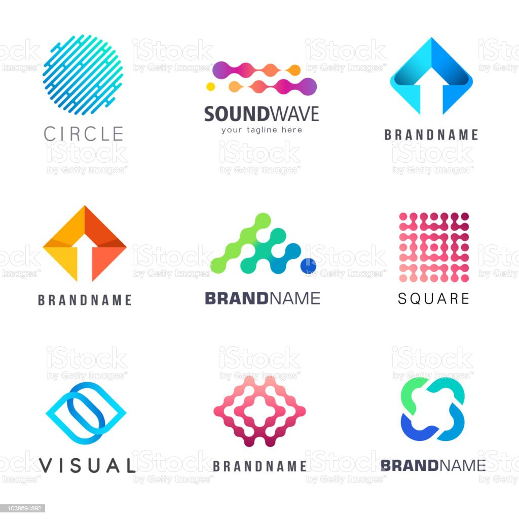 Collection of abstract vector design element for business vector art illustration