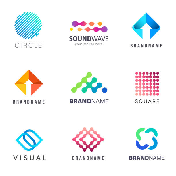 Collection of abstract vector design element for business Collection of abstract vector design element for business logo stock illustrations