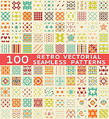 Collection of abstract vintage pattern swatches