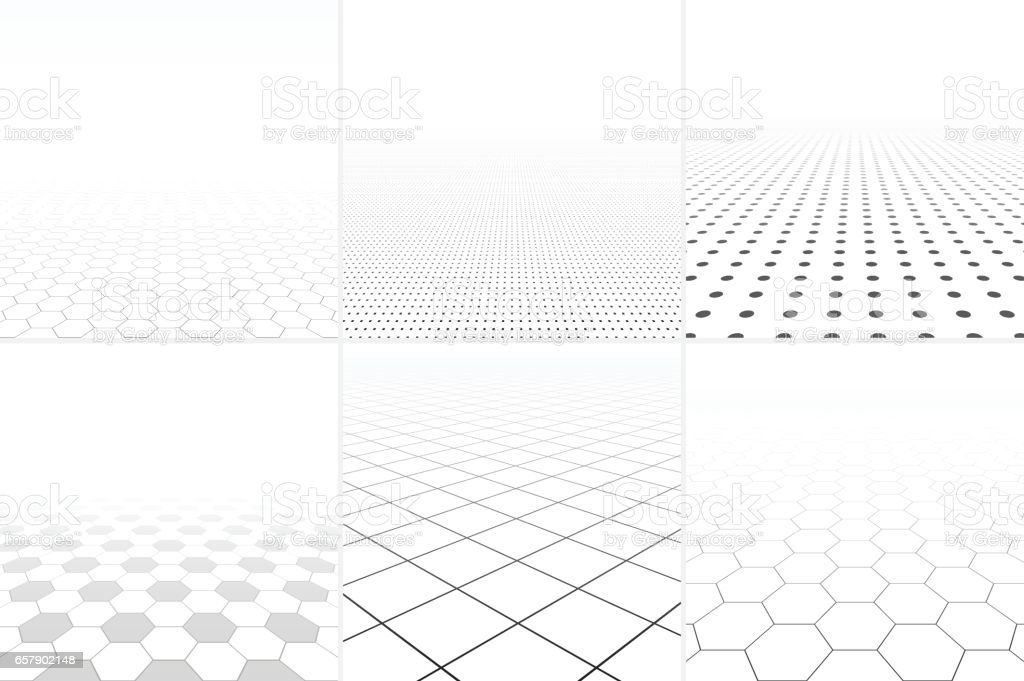 Collection of abstract white backgrounds. vector art illustration