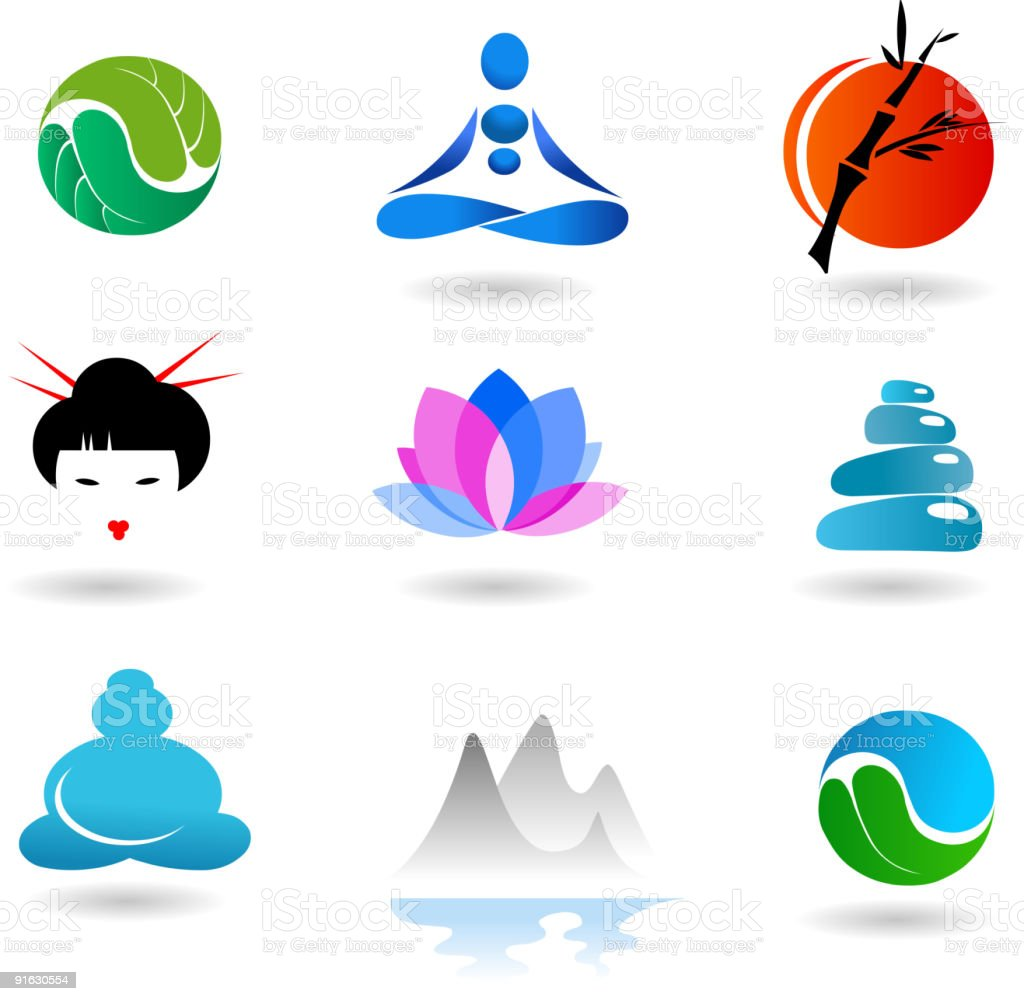 collection of alternative medicine icons royalty-free collection of alternative medicine icons stock vector art & more images of aquatic organism