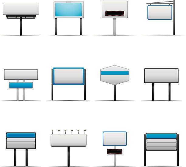 Blank magasin panneaux - Illustration vectorielle