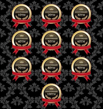 Collection Of Anniversary Gold Awards