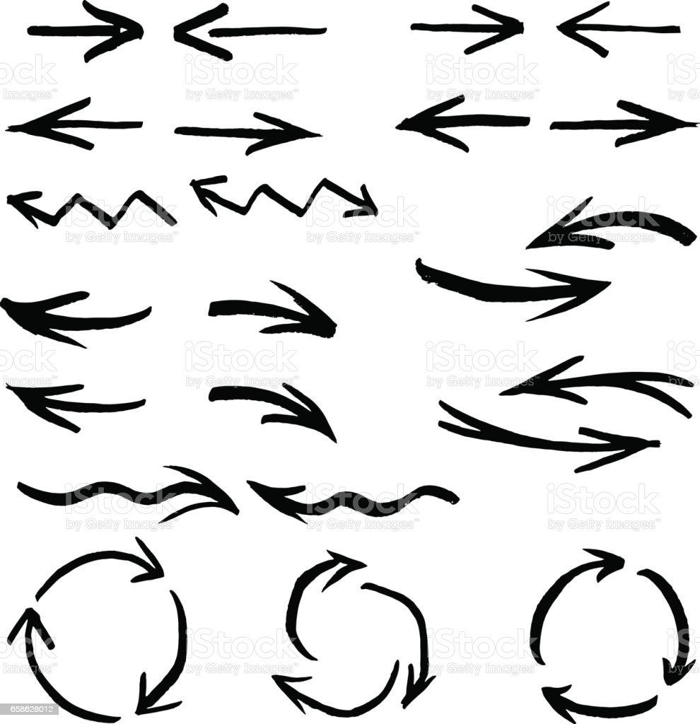 Collection des flèches et des éléments de conception - Illustration vectorielle