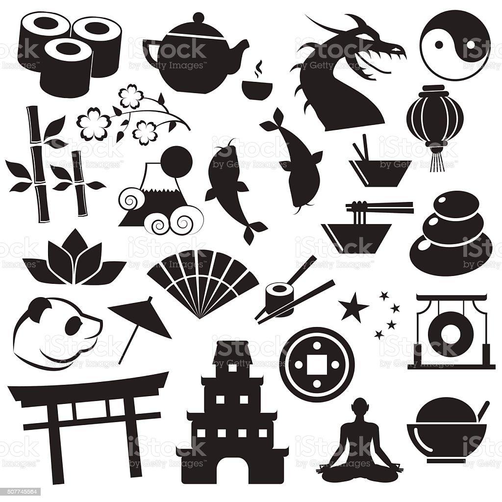 Asiatische Symbole