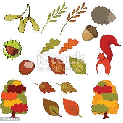 Aesculus Hippocastanum Horsechestnut Or Conker Tree Leaf Stock Illustration  - Download Image Now - iStock