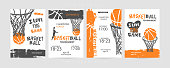 Basketball  sports print, cover, slogan, template.