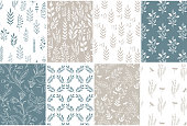 Collection of beautiful vintage patterns. Vector, isolated.