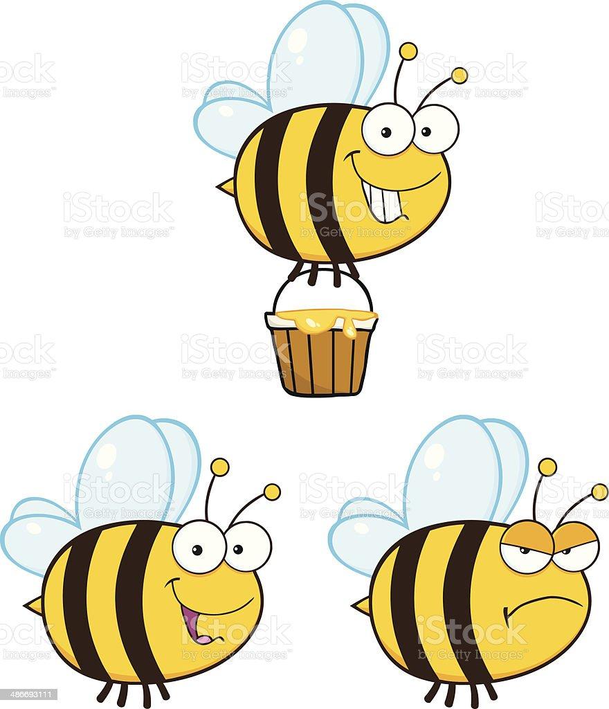Sammlung von Biene-Maskottchen - 2 – Vektorgrafik