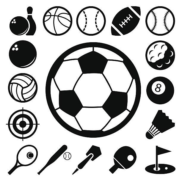 Ensemble d'icônes de sport. - Illustration vectorielle
