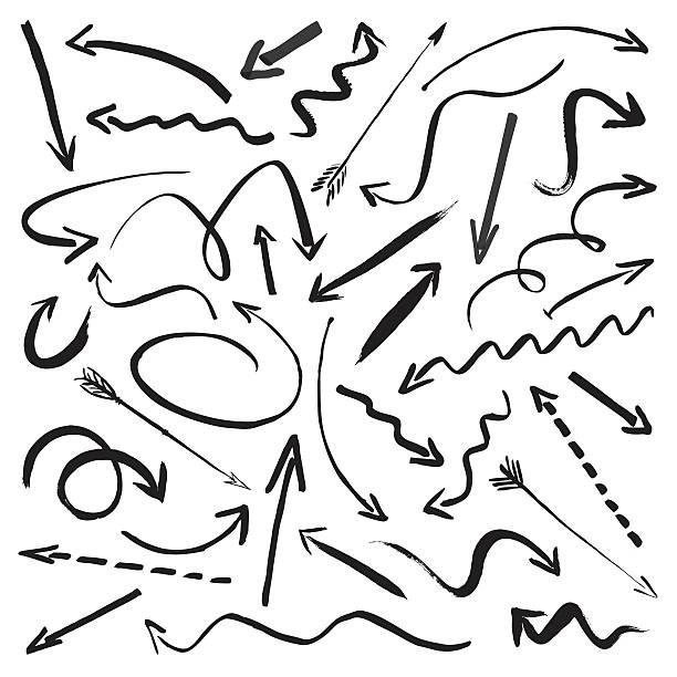コレクションの黒い矢印 - ブラシ点のイラスト素材/クリップアート素材/マンガ素材/アイコン素材