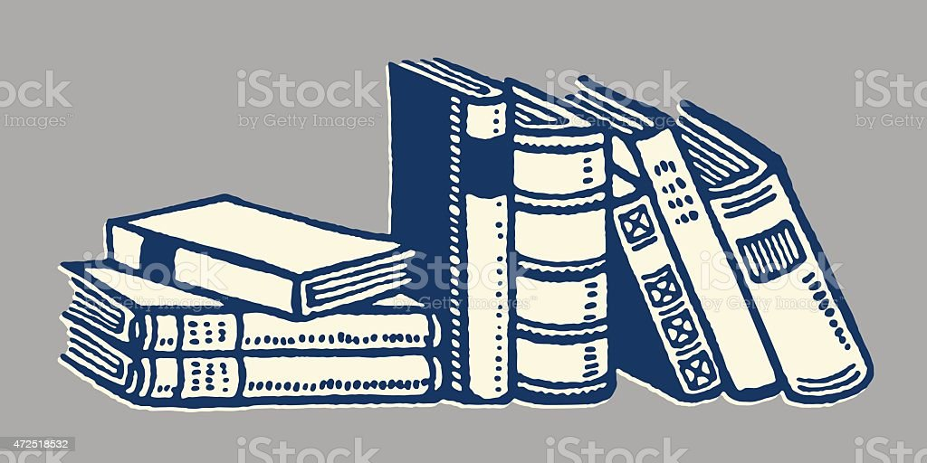 Collection of Books vector art illustration