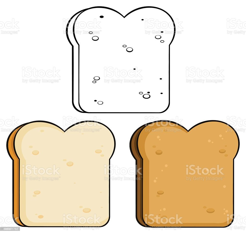 Collection of Bread Slice - 1 vector art illustration