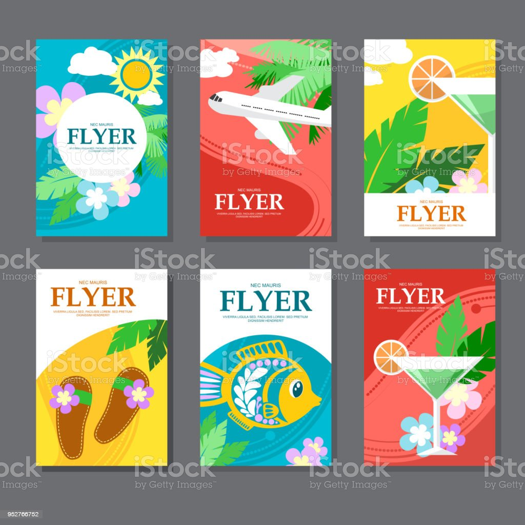 Collection Of Brightly Colored Rectangular Card On Travel And ...
