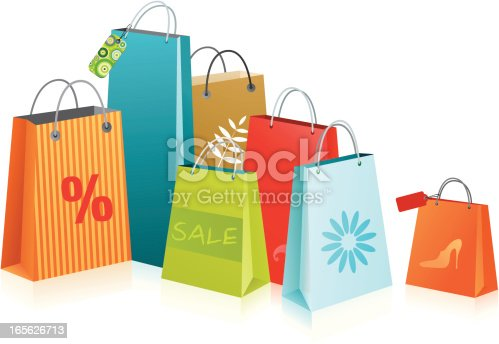 istock A collection of brightly colored shopping bags 165626713