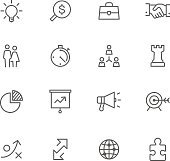Icon Set, Business items on white background, made in adobe Illustrator (vector)