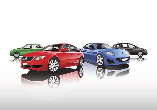 Collection of Cars Vector  sports car stock illustrations
