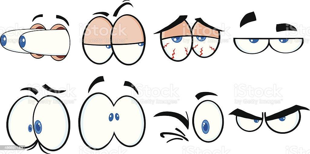 4 yeux dessin animé