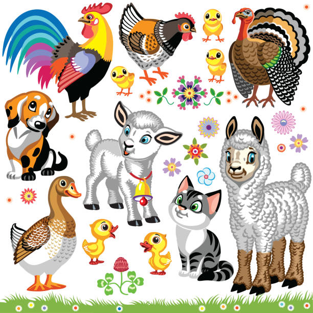 Top 60 Farm Animal Stickers Clip Art, Vector Graphics and