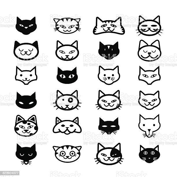 Collection of cat icons illustration vector id523924077?b=1&k=6&m=523924077&s=612x612&h=cf0nhni7j5ji0mrglxol7ips4nnxysy9z7eji6 fjni=