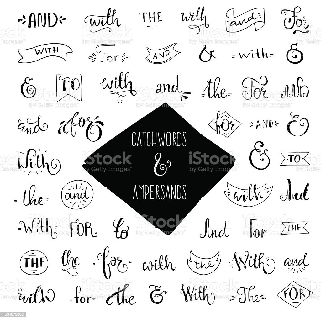 Collection of Catchwords vector art illustration